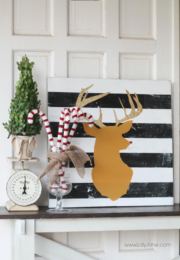 Reindeer Wall Art via Lolly Jane