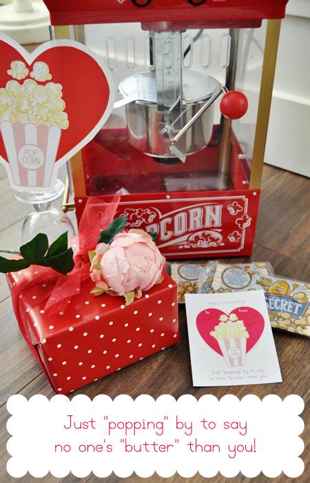Popcorn valentine gift idea