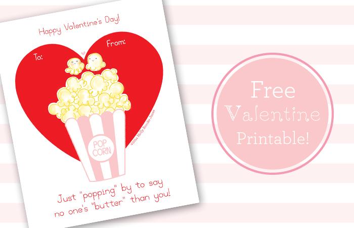 free printable popcorn valentine