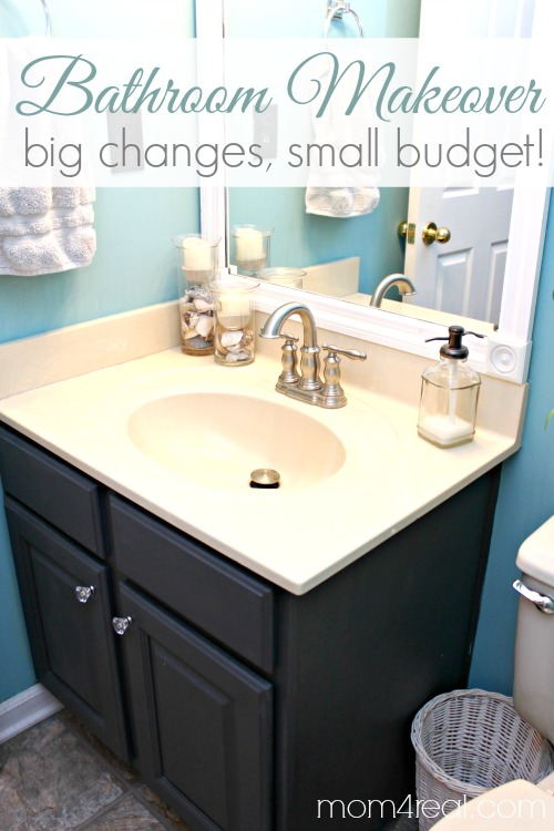 Stunning Budget Bathroom Makeover Including Framing Out Your Builder Grade Mirror Tauni Co