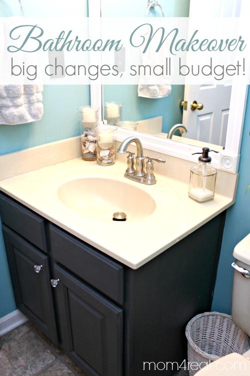 Builder Grade Mirror Bathroom Makeover