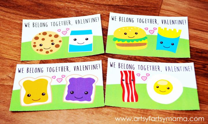 We Belong Together Free Valentine Printables via Artsy Fartsy Mama