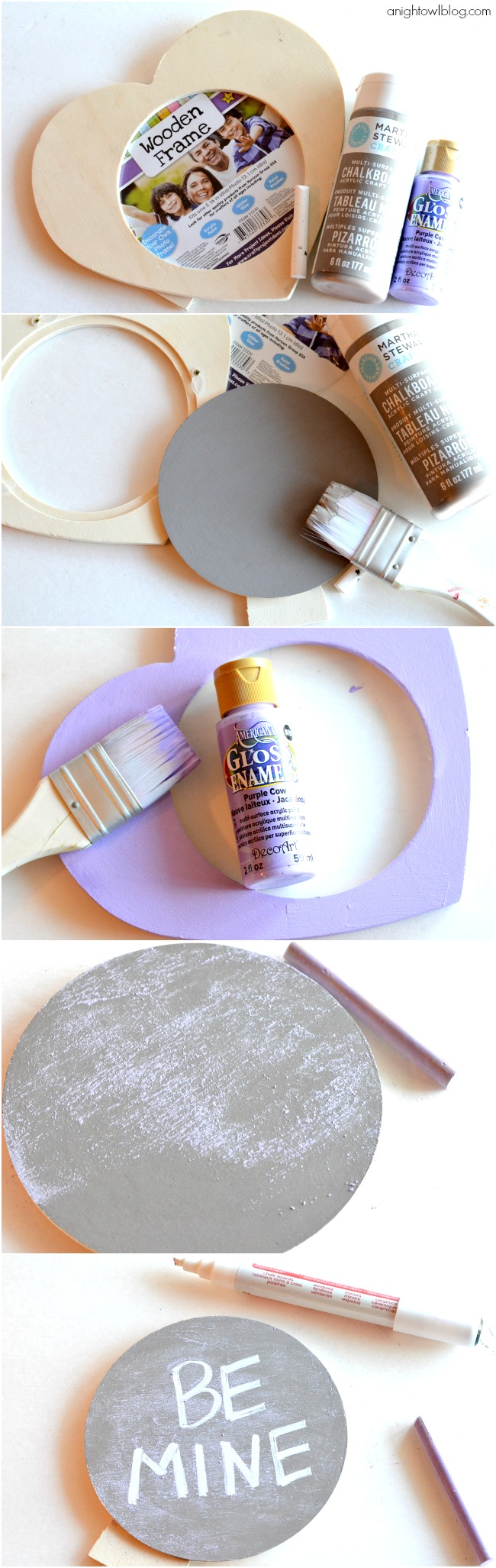 How to make a Conversation Heart Chalkboard