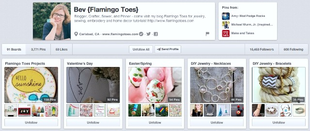 Flamingo Toes Pinterest Board