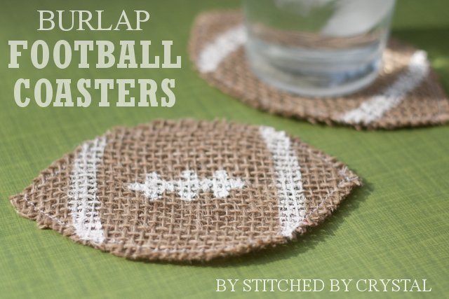 DIY Football Coasters