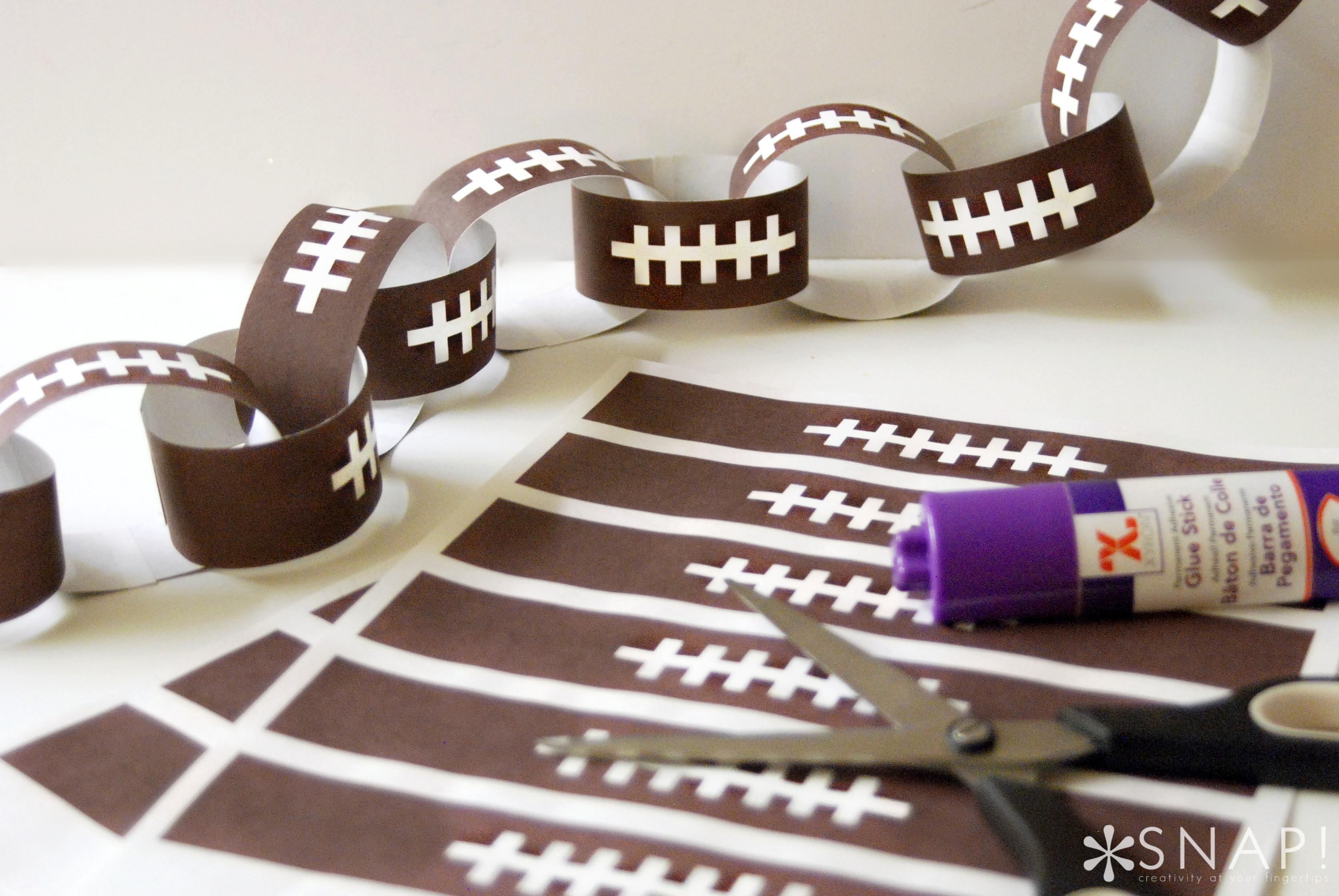 Print + Cut Football Paper Chain