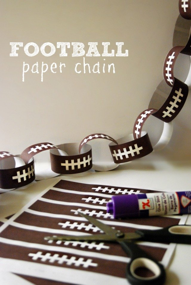 Football Paper Chain Printable