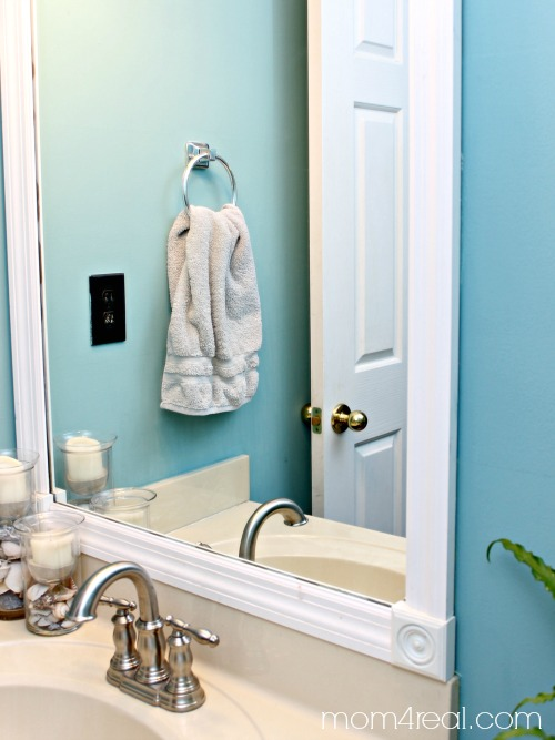 Frame Out Your Bathroom Mirror