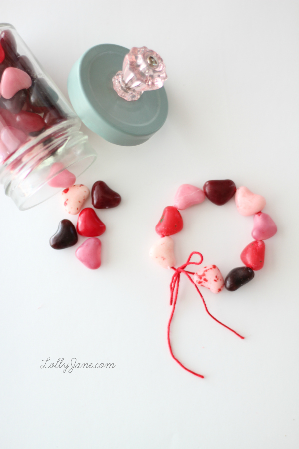 Candy Heart Bracelet via LollyJane