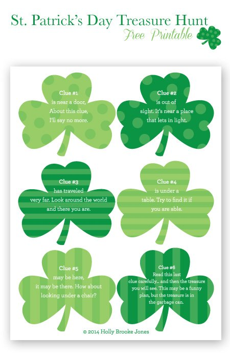 St. Patrick's Day Treasure Hunt Printable