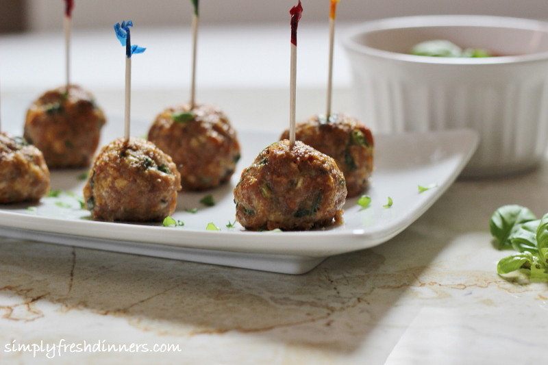 Turkey Meatballs via Simply Fresh Dinners