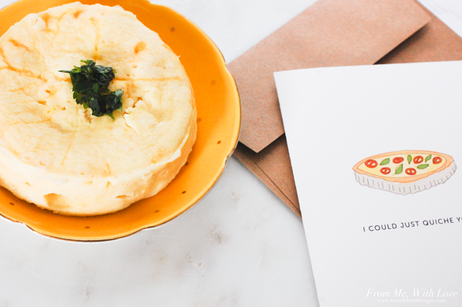I could just quiche you printable valentine card