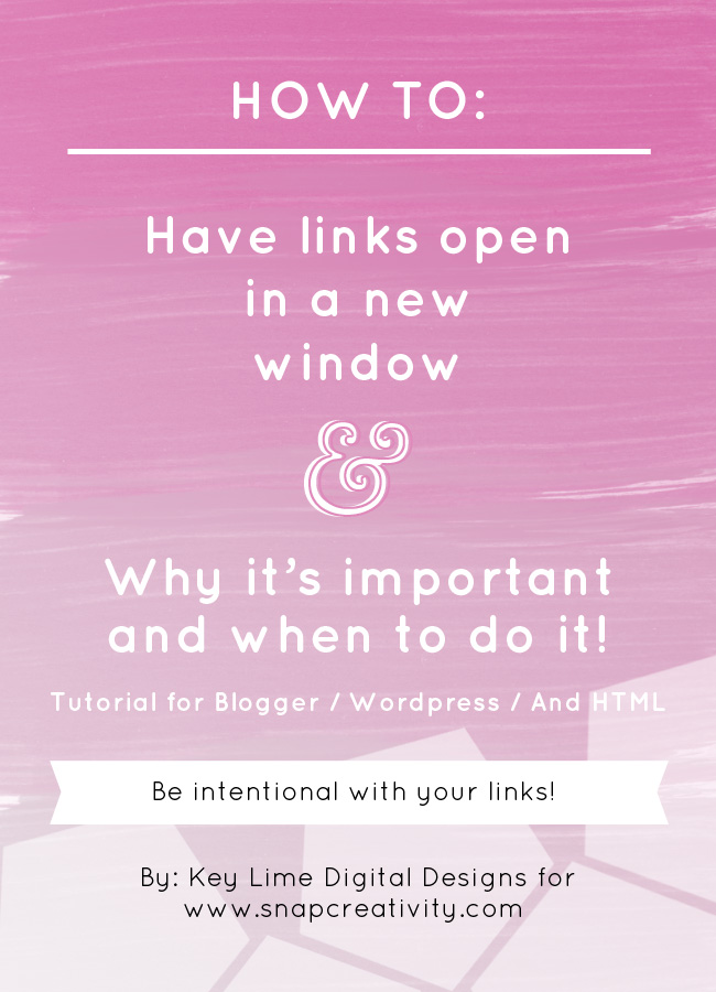 How to Have Links Open in A New Window