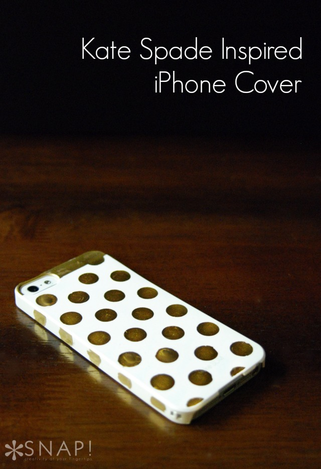 DIY Kate Spade Inspired iPhone Cover via Snap