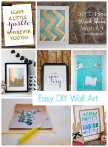 Easy DIY Wall Art via @snapconf