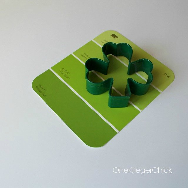 How to make a Paint swatch shamrock