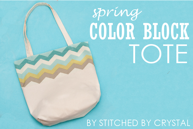 Make your own Spring color block tote