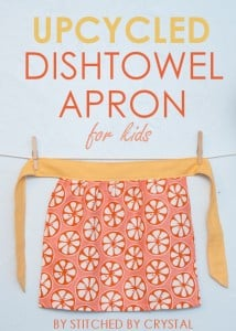 How to make an upcycled dishtowel apron for kids