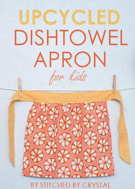 Upcycled Dishtowel Apron