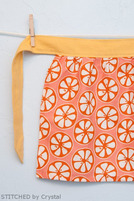 Upcycled Dishtowel Apron for Kids