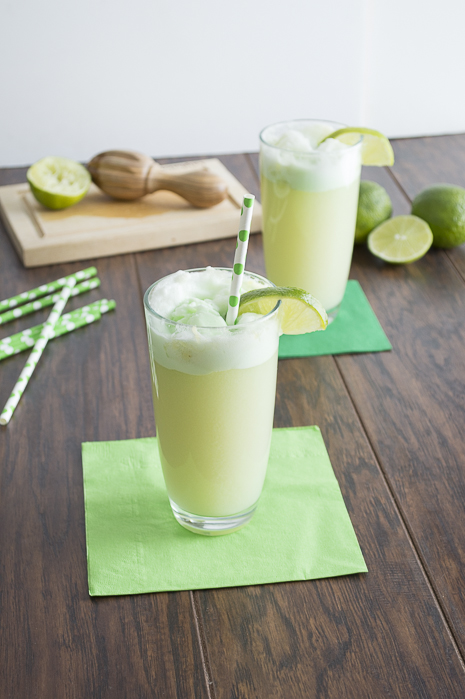 Lime Sherbet Floats via The First Year