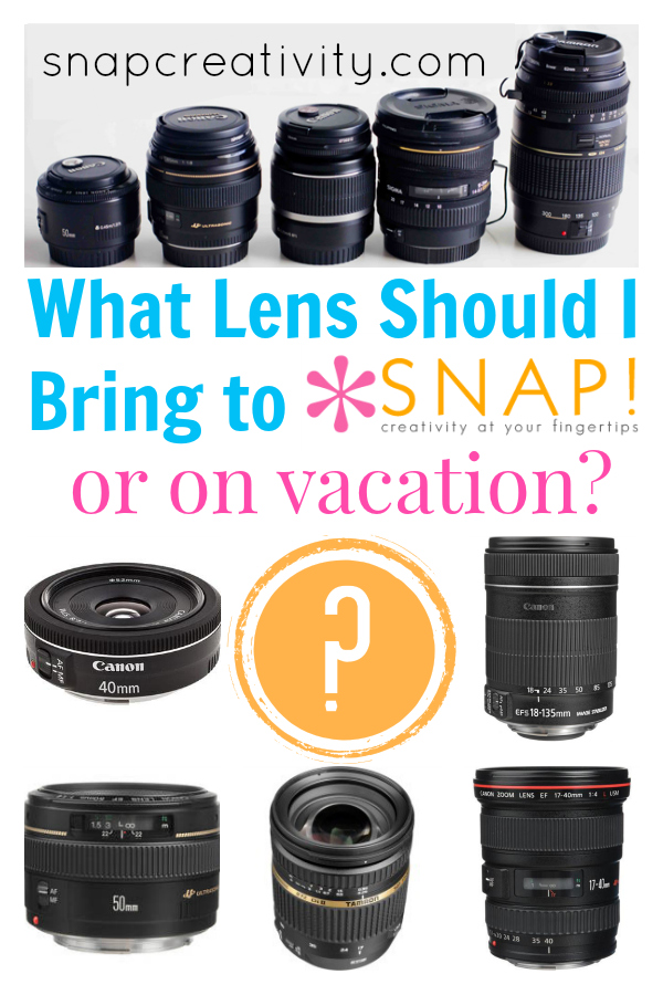 What Lenses to Bring to SNAP! or on Vacation
