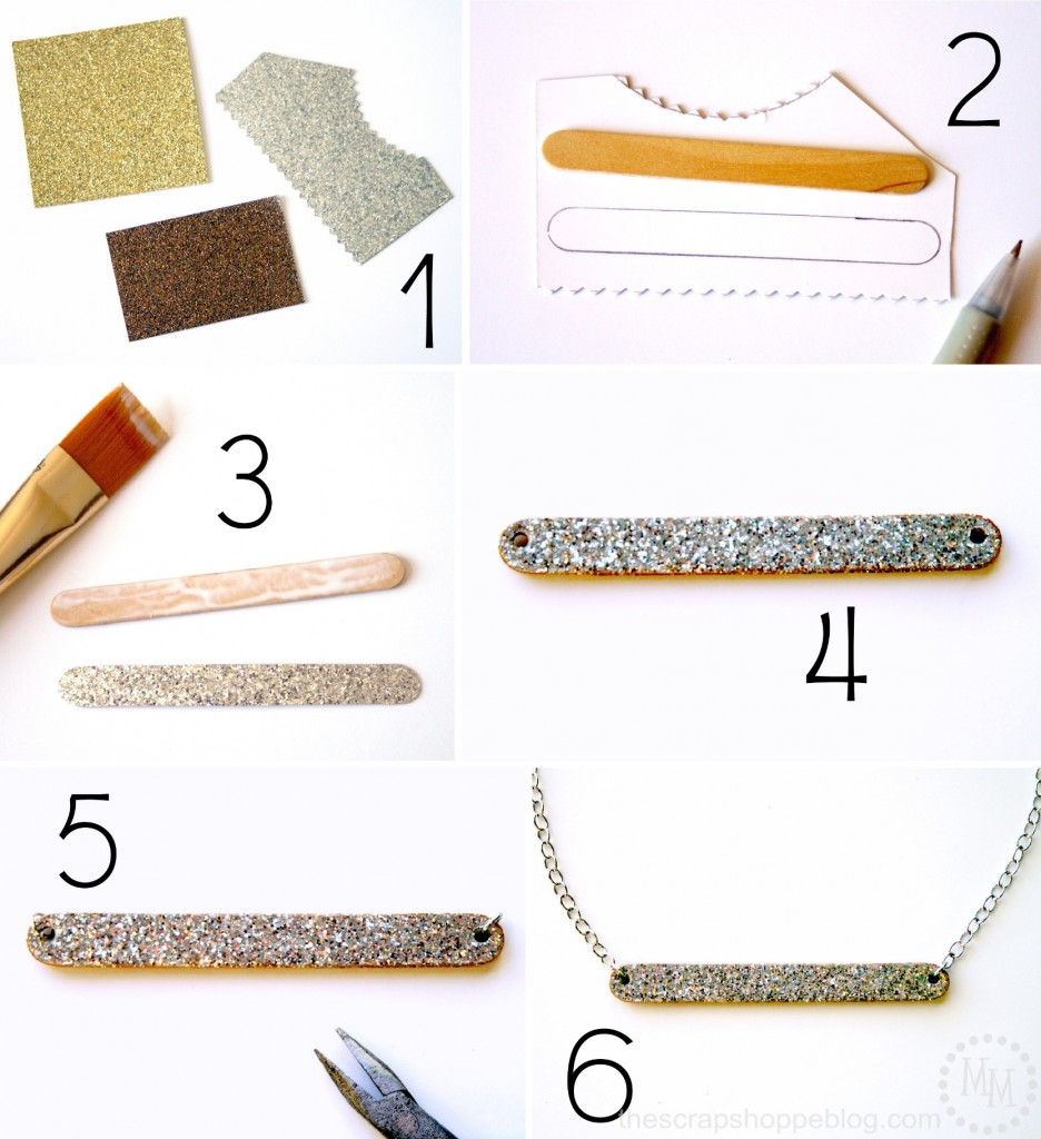 DIY necklace using a popsicle stick