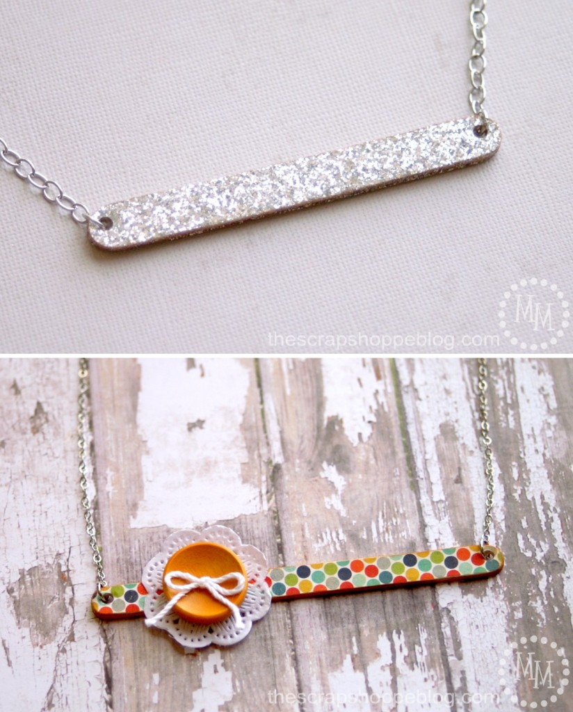 DIY necklace using popsicle sticks