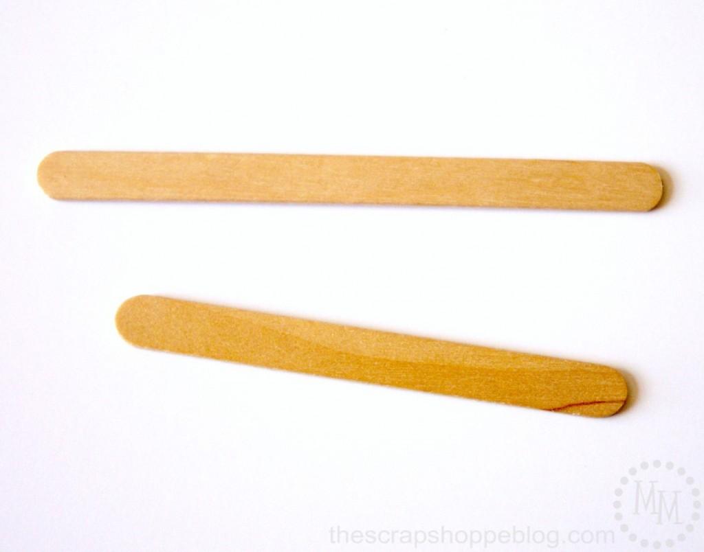 DIY necklace secret ingredient - popsicle sticks