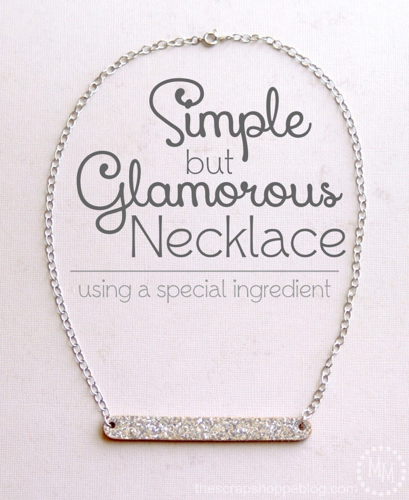 Simple but glamorous DIY necklace