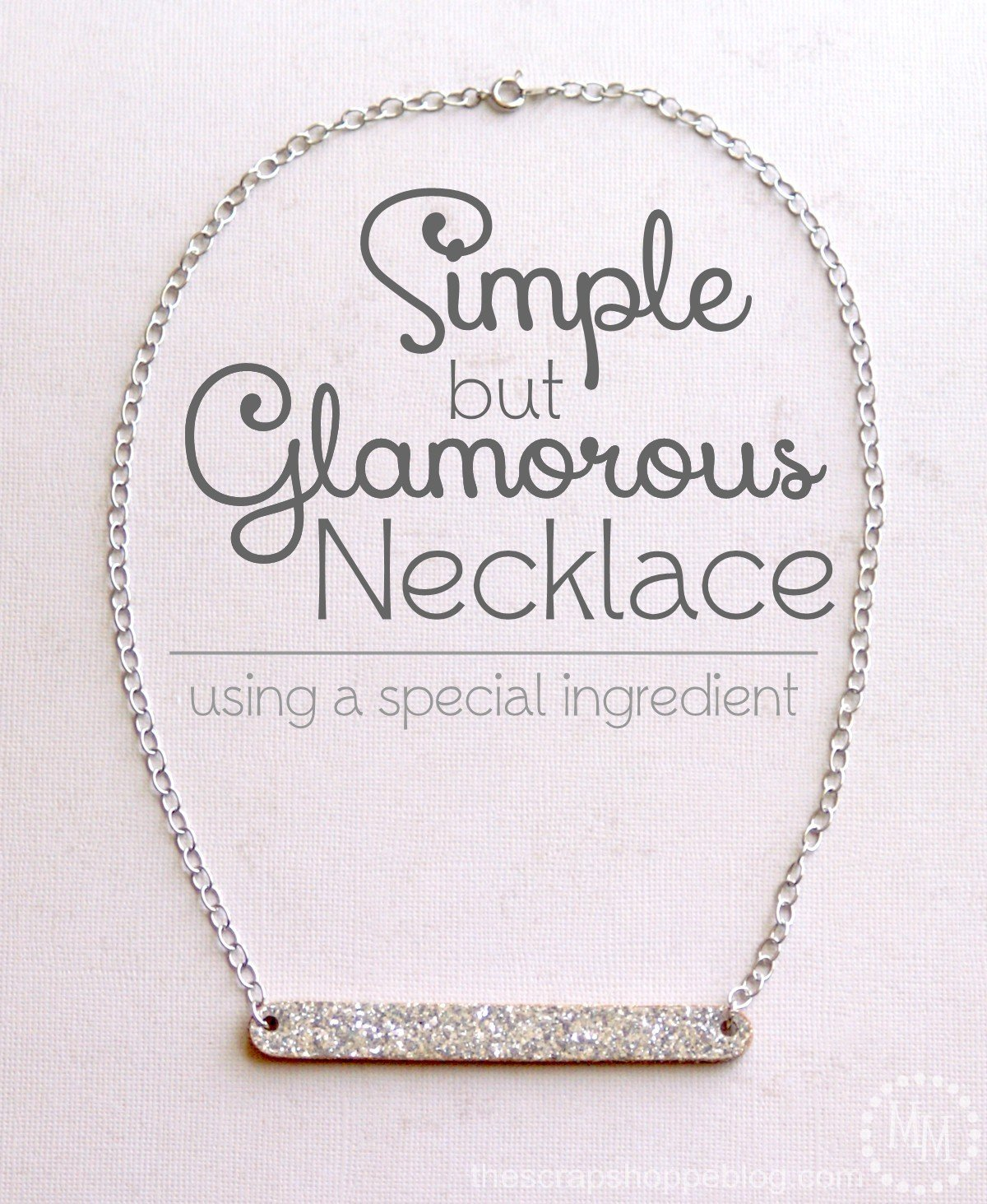 Simple glamorous necklace
