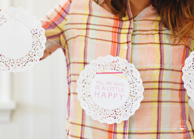 Cute Spring doily banner