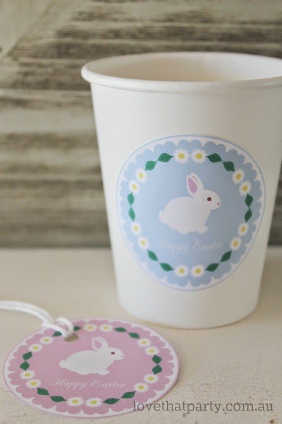 Easter Label gift tag cup
