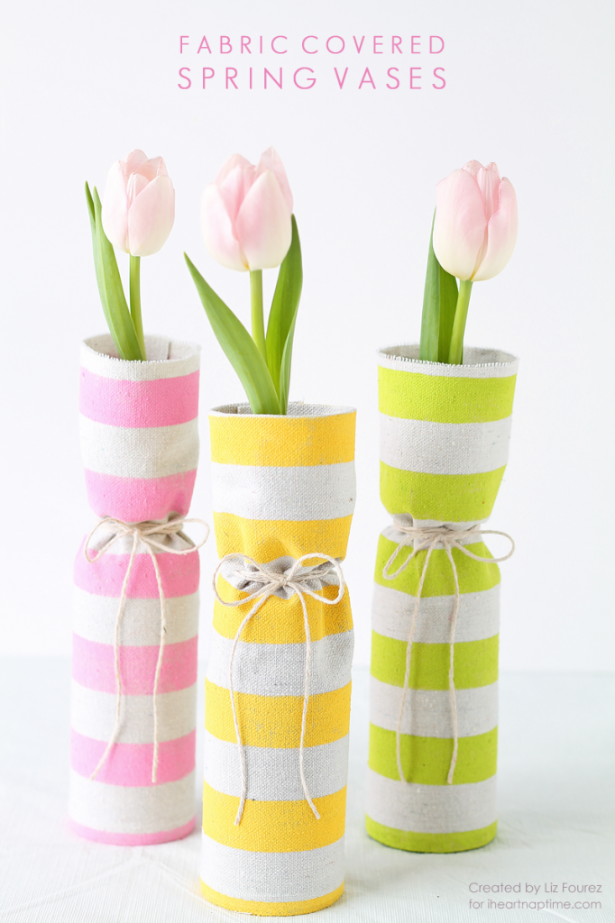Fabric Covered Vases via Love Grows Wild