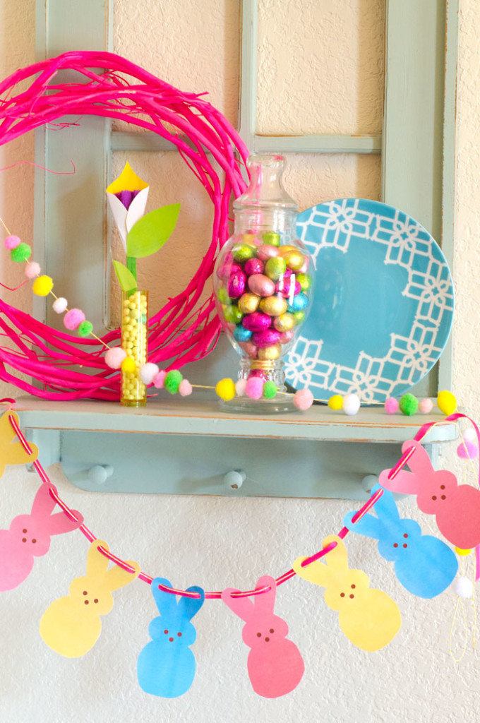 Free Printable Peeps Garland via Love the Day