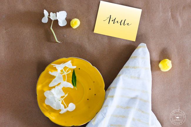 Printable Place cards for Easter Brunch