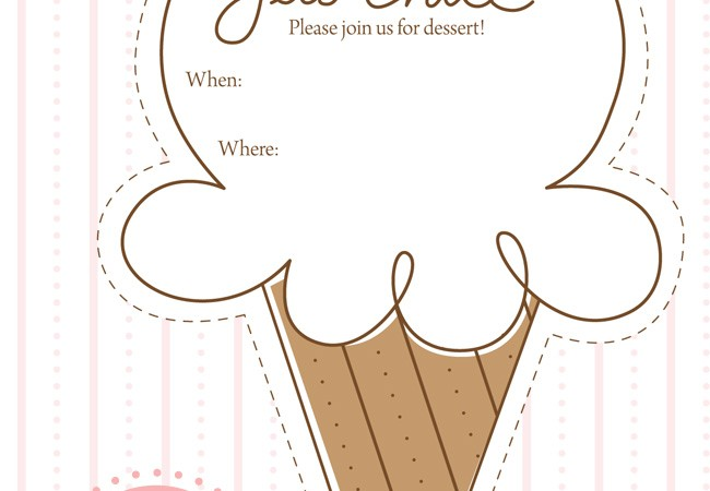 Free ice Cream Party Printable Invitation