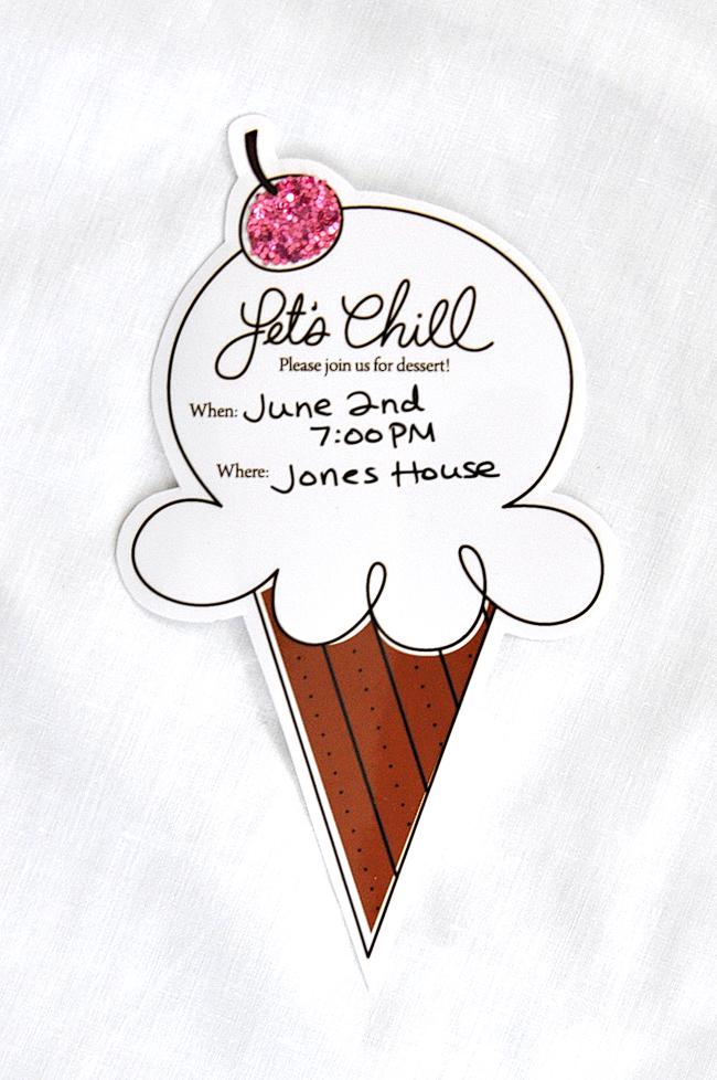 Free Ice Cream Party Printable Invitation