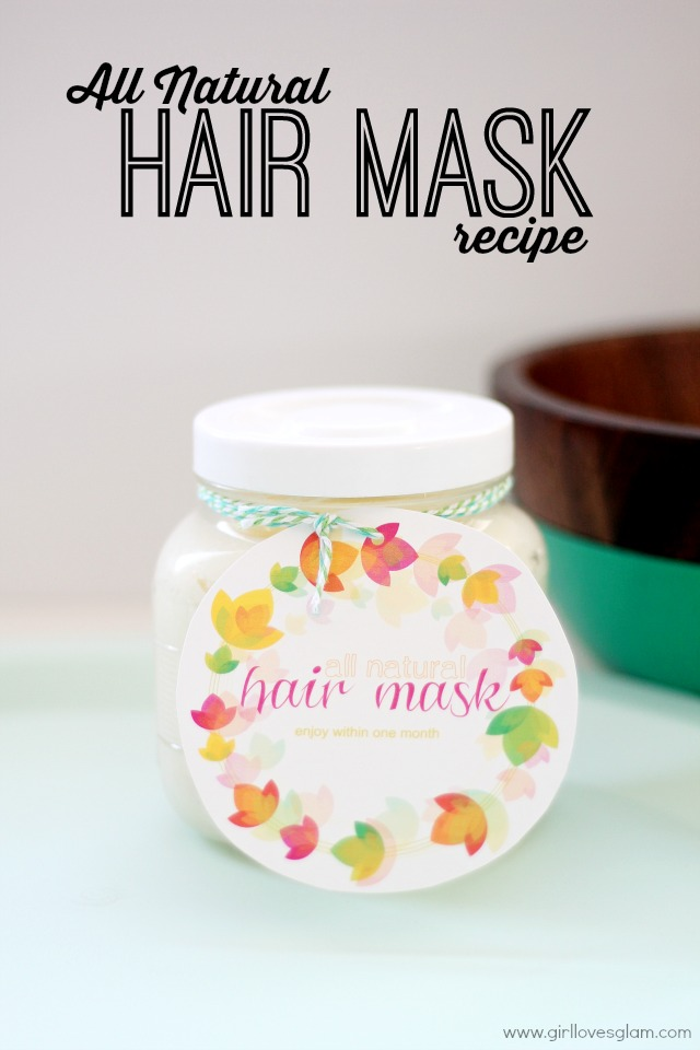 All Natural Hair Mask Recipe by www.girllovesglam.com