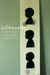 Learn how to create your own silhouette memory board
