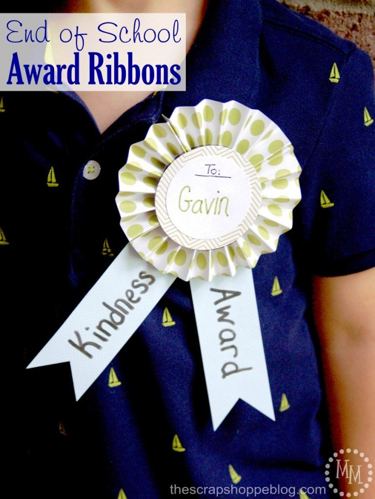 End of School Award Ribbons