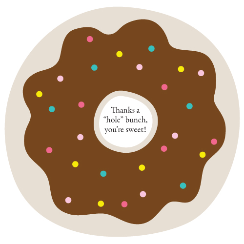 Thanks a Hole Bunch Donut Printable