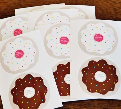 "Thanks a ""hole"" bunch donut printable"