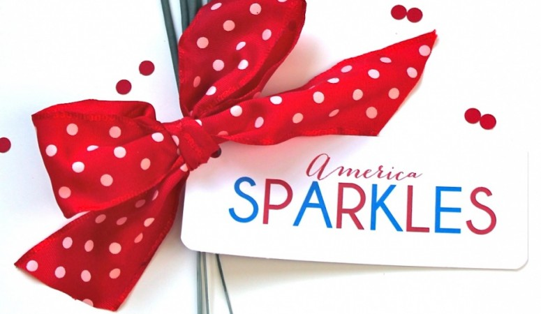 America Sparkles printable via Bloom Designs