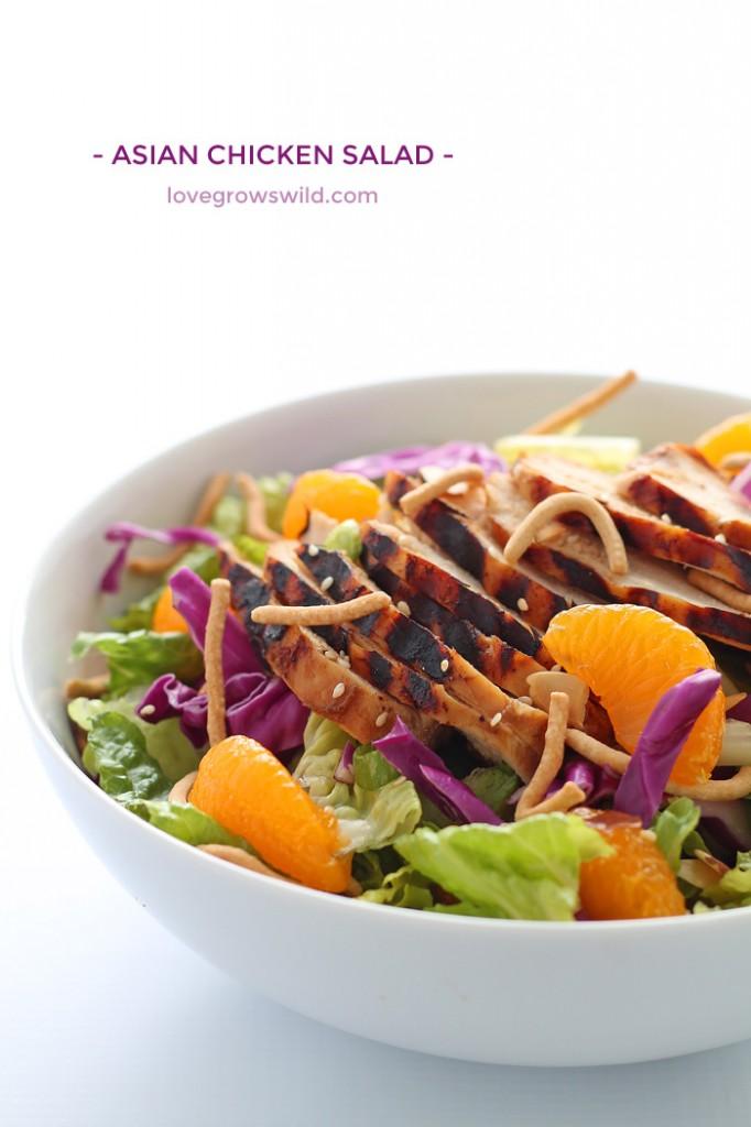 Asian Chicken Salad via Love Grows Wild