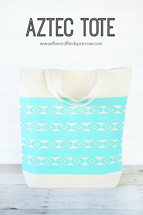 Aztec Tote via @CraftedSparrow