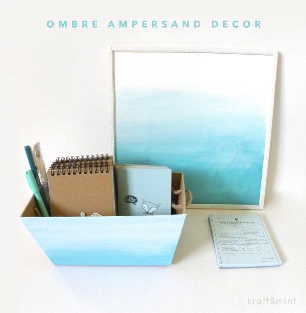 DIY Watercolor Office Decor via Kraft Mint