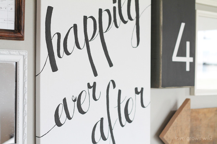 DIY Script Canvas via Love Grows Wild