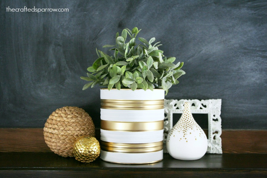 Painted-Tin-Can-Planter via The Crafted Sparrow