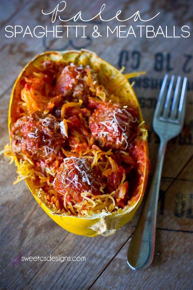 Paleo Spaghetti and Meatballs via Sweet C's Designs